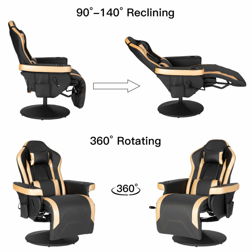 reclinning of this gaming chair